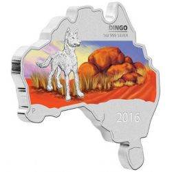 1$ Dingo - Australian Map Shaped
