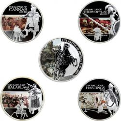 Set of 5 coins: Famous...