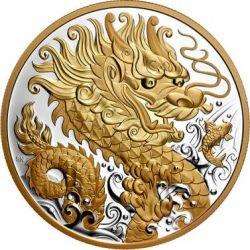 125$ Lucky Dragon 1/2 kg Ag 999 2020