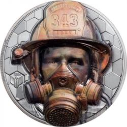 20$ Firefighter - Real Heroes 3 oz Ag 999 2021