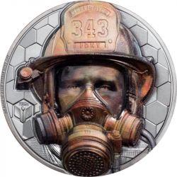 20$ Strażak - Prawdziwi Bohaterowie 3 oz Ag 999 2021