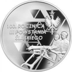 10 zł 100th Anniversary of the 3rd Silesian Uprising 14,14 g Ag 925