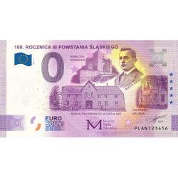 0 Euro 100. Rocznica III Powstania Śląskiego 2021, Banknot