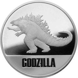 2$ Godzilla, Godzilla vs. Kong 1 oz Ag 999 2021 Niue Island