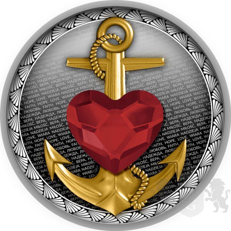 500 Francs Faith, Hope, Love 17,50 g Ag 999 2021 Cameroon