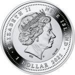 1$ Aureus Taurus 17,50 g Ag 999 2021 Niue Island