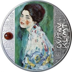 500 Franków Portret Damy, Gustav Klimt - Artysta Łamiący Schematy 17,50 g Ag 999 2021 Kamerun