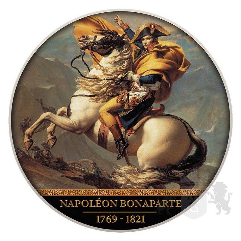 500 Franków Napoleon Bonaparte, 200. rocznica śmierci 10 g Ag 999 2021 Kamerun