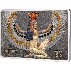 16$ 40$ Bogini Isis - Masterpieces 10g Au 999 200g Ag 999 2021 Wyspy Salomona