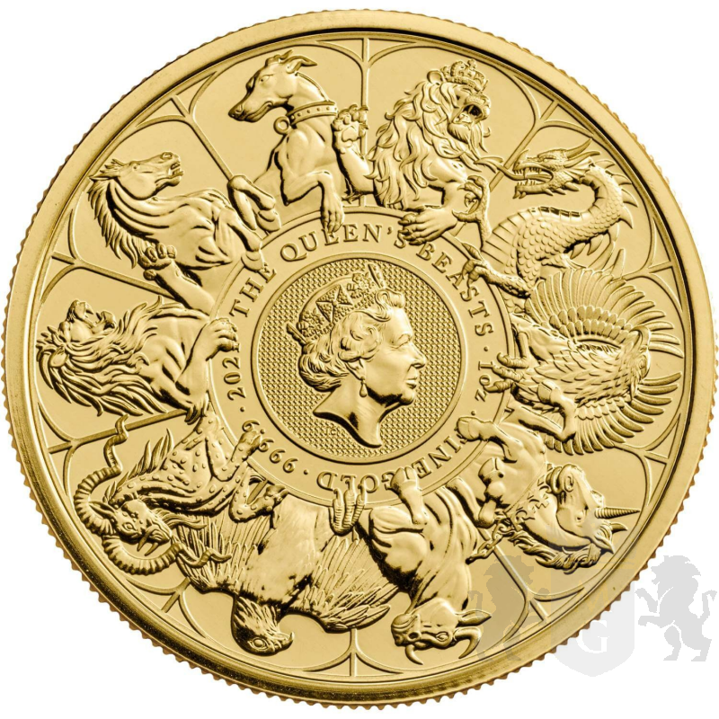 100£ The Queen's Beasts 1 oz Au 999 2021 Great Britain