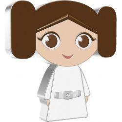 2$ Księżniczka Leia - Gwiezdne Wojny, Chibi 1 oz Ag 999 2021 Niue Island