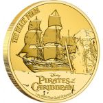 250$ The Black Pearl - Pirates of the Caribbean, Disney 1 oz Au 999 2021 Niue Island