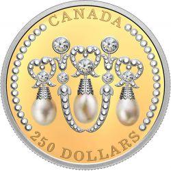 250$ Queen Elizabeths Lover's Knot Tiara 60 g Au 999 2021 Kanada
