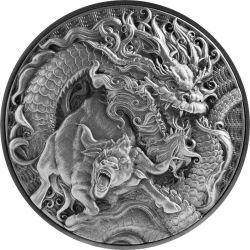 10$ Chinese Dragon & Ox 2 oz Ag 999 2021 Tokelau