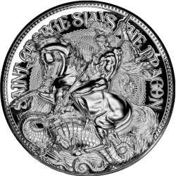 10000 Francs St George Slays the Dragon 2 oz Ag 999 2021 Tchad