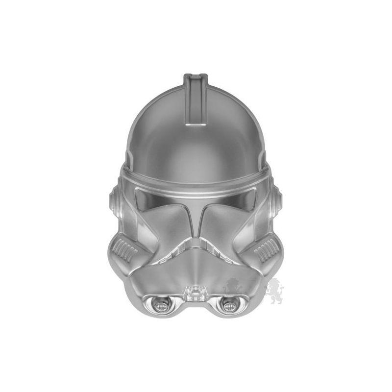 5$ Clone Trooper - Kask, Gwiezdne Wojny 2 oz Ag 999 2021 Niue