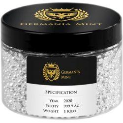 Granulat Srebra 1 kg Ag 999 2020 Germania Mint