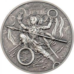 10$ Nezha - Mythology Weapons 2 oz Ag 999 2021 Cook Island
