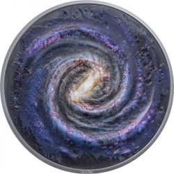 20$ The Milky Way - Space the Final Frontier 3 oz Ag 999 2021 Palau