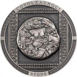 20$ Kamień Coyolxauhqui - Archeologia i Symbolizm 3 oz Ag 999 2021 Wyspy Cooka