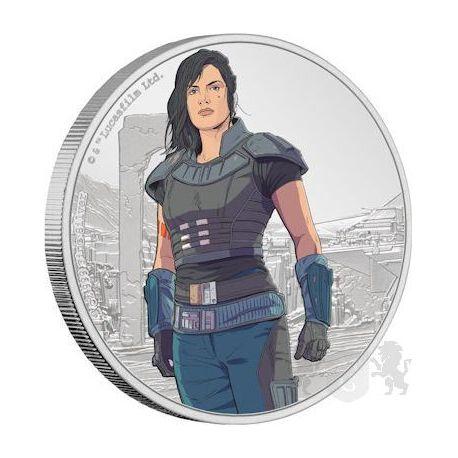 2$ Cara Dune - Gwiezdne Wojny, Mandalorian 1 oz Ag 999 2021 Niue