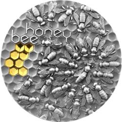 5$ Honey Bee 2 oz Ag 999 2021 Niue