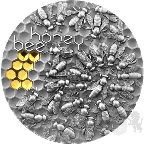 5$ Pszczoła Miodna 2 oz Ag 999 2021 Niue
