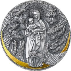 3000 Francs The Lady and the Dragon - Apocalypse 3 oz Ag 999 2021 Cameroon