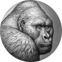 2000 Franków Goryl Górski - Ekspresja Dzikiej Przyrody 2 oz Ag 999 2021 Kamerun