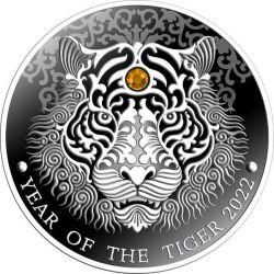 2 Cedi Rok Tygrysa 1/2 oz Ag 999 2022 Ghana