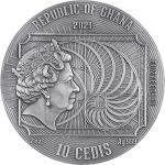 10 Cedi Albrecht Dürer - Najwięksi Artyści Świata 2 oz Ag 999 2021 Ghana