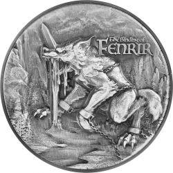 10000 Francs The Binding of Fenrir 2 oz Ag 999 11.5 oz Cu Tchad