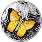 500 Francs Colorful World of Butterflies 17,50 g Ag 999 2021 Cameroon