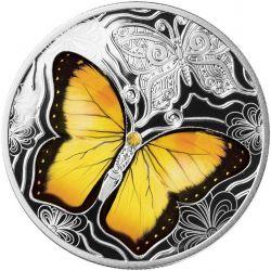 500 Franków Barwny Świat Motyli 17,50 g Ag 999 2021 Kamerun