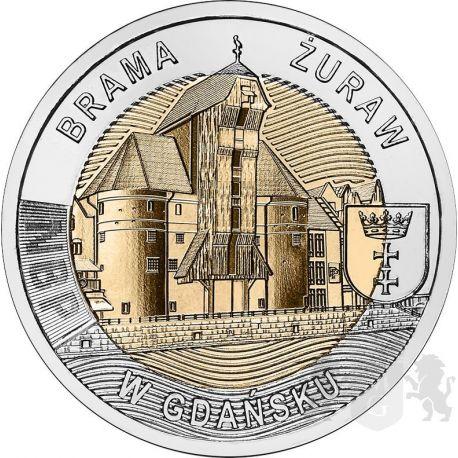 5 zł The Crane Gate in Gdańsk - Discover Poland 6,54 g Bimetal 2021
