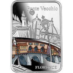 1000 Franków Ponte Vecchio, Most Złotników 28,28 g Ag 999 2021 Kamerun