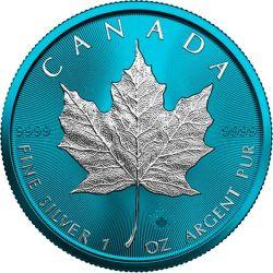 5$ Maple Leaf - Space Blue 1 oz Ag 999 2021 Kanada