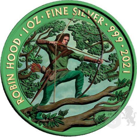 2£ Robin Hood - Space Green 1 oz Ag 999 2021 Wielka Brytania
