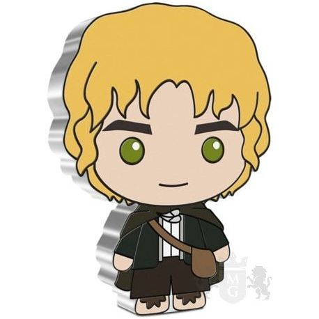 2$ Samwise Gamgee - The Lord of the Rings, Chibi 1 oz Ag 999 2021 Niue