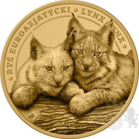 3 Denarius Lynx - Animals of Poland 8,9 g GN 2021