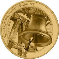 3 Denary 500. rocznica zawieszenia Dzwonu Zygmunt na Wawelu 8,9 g GN 2021