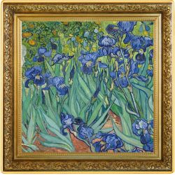 1$ Irises, Vincent van Gogh - Treasures of World Painting 1 oz Ag 999 2021 Niue