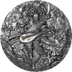 5$ Chiguotian - Four Heavenly Kings 2 oz Ag 999 Niue 2021