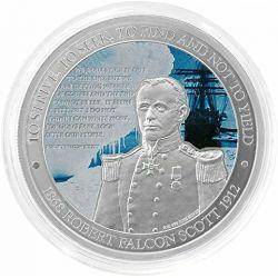 2$ Robert Falcon Scott, Badacz Antarktydy 1 oz Ag 999 2012 Niue