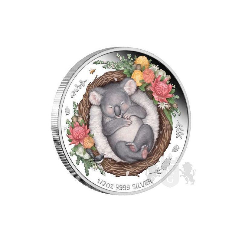 50¢ Koala - Dreaming Down Under 1/2 oz Ag 999 2021