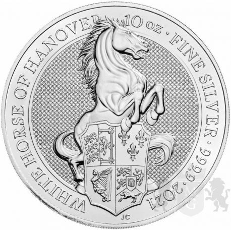 10£ White Horse Of Hanover - QUEEN'S BEASTS