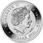 1$ Skarabeusz Słoneczny 17,5 g Ag 999 Szkło awenturynowe 2021 Niue