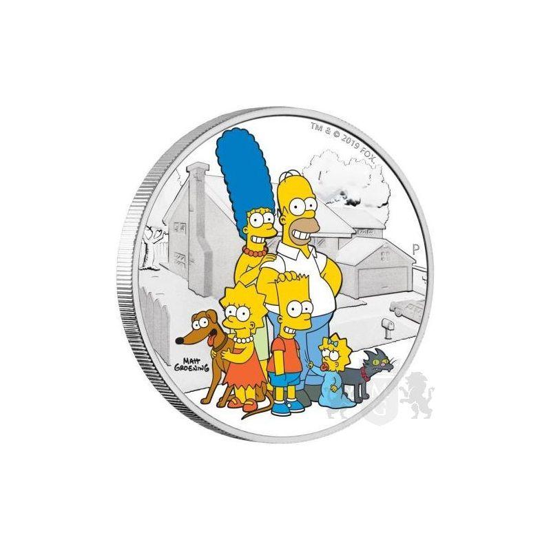 2$ Rodzina Simpsonów 2 oz Ag 999 2019 Tuvalu
