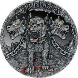 2000 Francs Cerberus - Mythical Creatures 2 oz Ag 999 2021 Cameroon