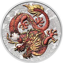 1$ Smok Kolor - Chińskie Mity i Legendy 1 oz Ag 999 2021